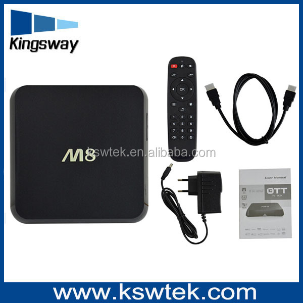 Alibaba wholesale Amlogic S802 google android tv box isdb-t