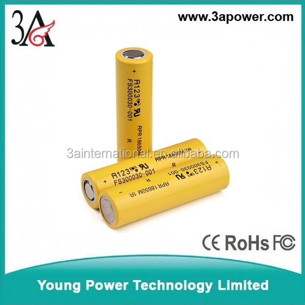 A123 18650 1100mah 3.2v 30C lifepo4 battery cells