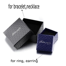 Fashionable different sized packing jewelry gift boxes for ring earring bracelet necklaces paper gift wrap jewelry box for pack
