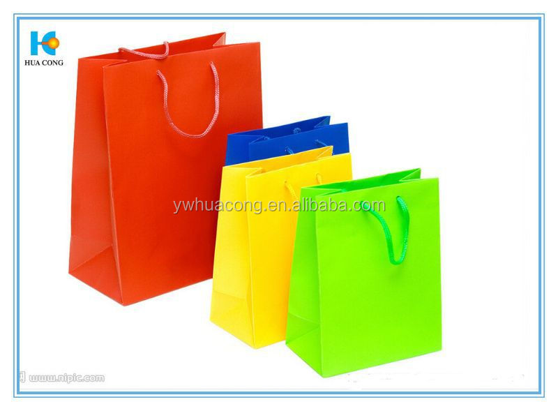 luxury glue for paper bag shopping bag with hot stamping with cotton handle