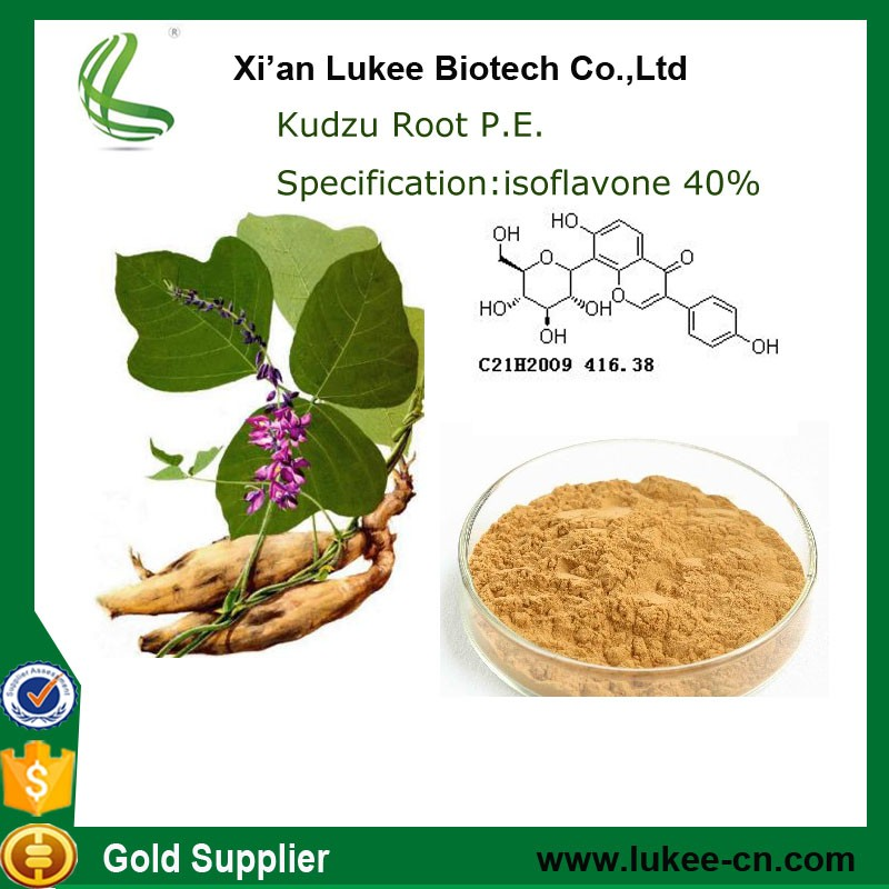 100% pure natural Kudzu Root Extract 40% Isoflavones& Puerarin 98% 3681-99-0