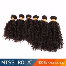 New Arrival Fashion Black Women Kanekalon Fiber Synthetic Hair Extensions Afro Curly jazz wave hair