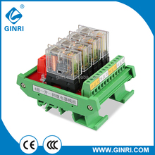 GINRI JR-4L1 4 Channel SPDT OMRON Relay Module PLC Output Amplified Board
