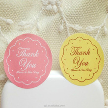 Colors Cute Custom Paper Thank You Circle Stickers