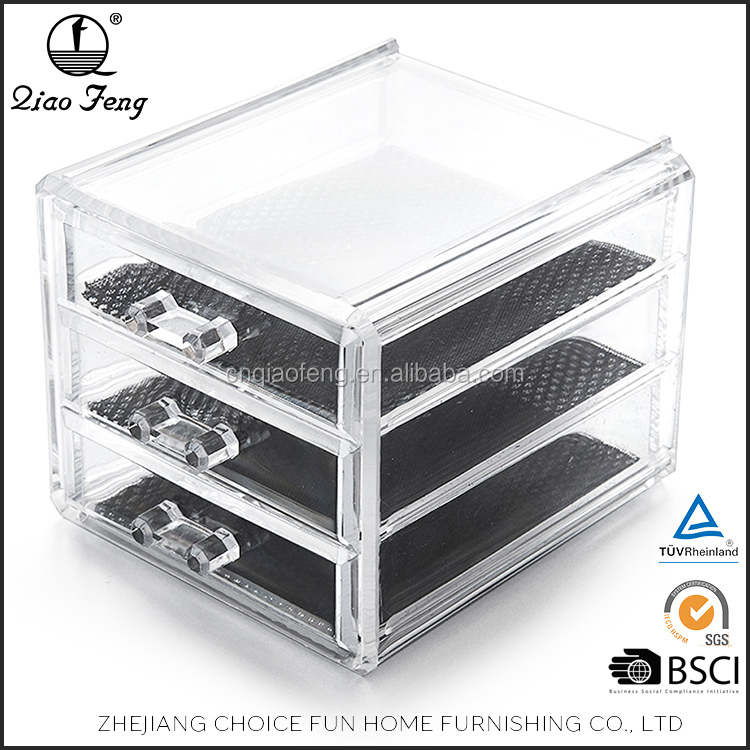 Drawer box acrylic makeup organizer with different size to choose