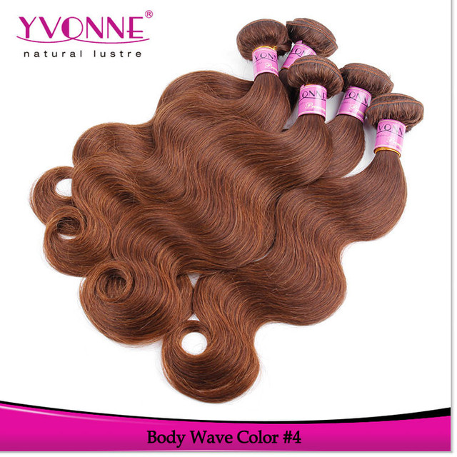 Wholesale 5a grade peruvian hair weave color 4