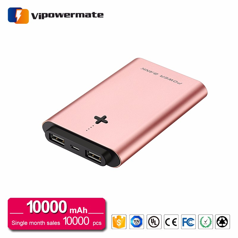 CE FCC RoHS certified low price cheap smart mili 10000mAh camping universal power bank