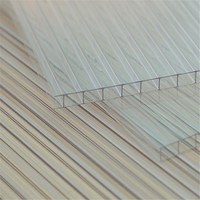 4mm 6mm 8mm 10mm twin wall polycarbonate hollow sheet