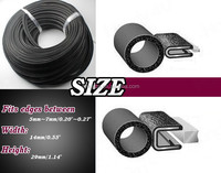 high temperature resistant car door ribbed rubber seal strip for car doors
