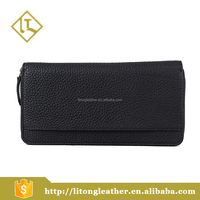 New Arrival Black Color Mens Business Wallets Lichi Leather Clutch Bag
