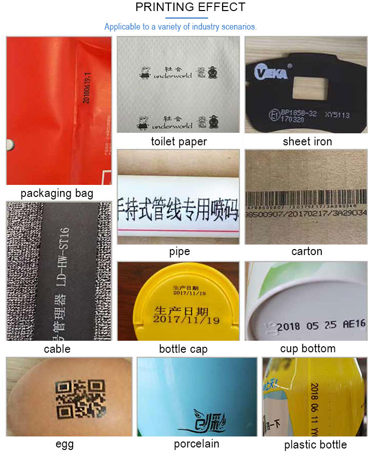 industrial automatic continues number printing machine qr code hand printer handheld Inkjet Printer machine for plastic card