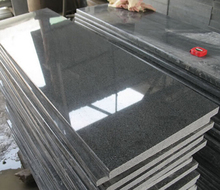 China G654 Sesame black granite polished flamed slabs China Padang dark black big slabs half small slabs for sale