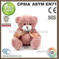 15cm sitting high handmade teddy bear for christmas toy