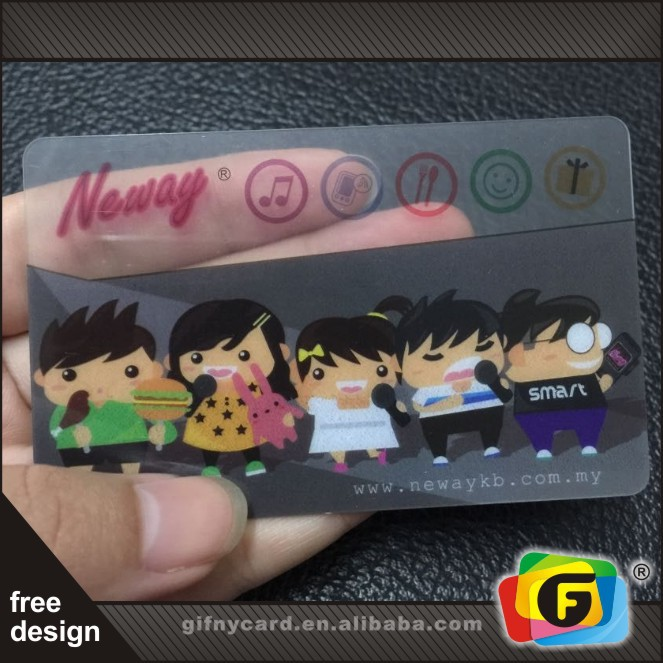 Full Color Printing Clear PVC Loyalty Cards