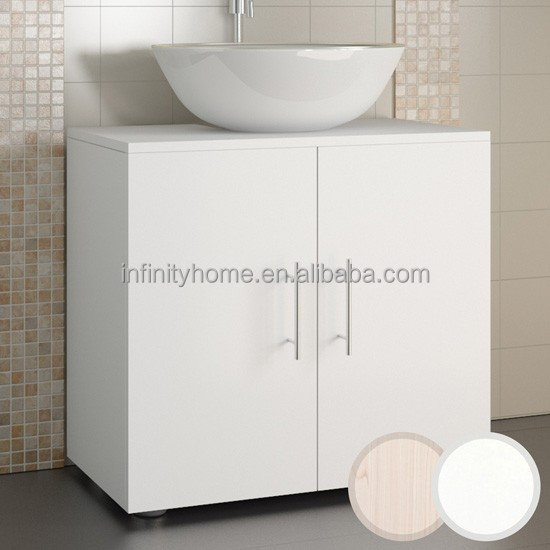 Wall-mounted under sink storage wood cabinet for bathroom