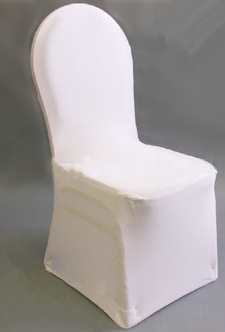 Plain Style and Spandex / Polyester Material white spandex chair covers lycra chair covers