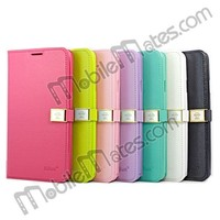 Hot Selling Magnetic Flip Leather Wallet Smart Cover Case For Samsung Galaxy Note 3 N9000 / N9002 / N9005 With Strap