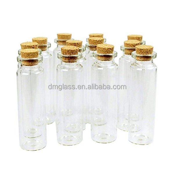 Message Bottles Spice Storage Glass with Vials Cork