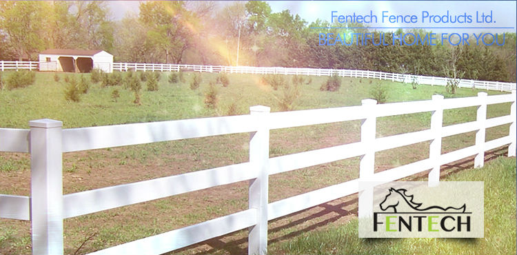 Fentech Brand White, Tan, Gery and Black Plastic Vinyl PVC Horse Fence
