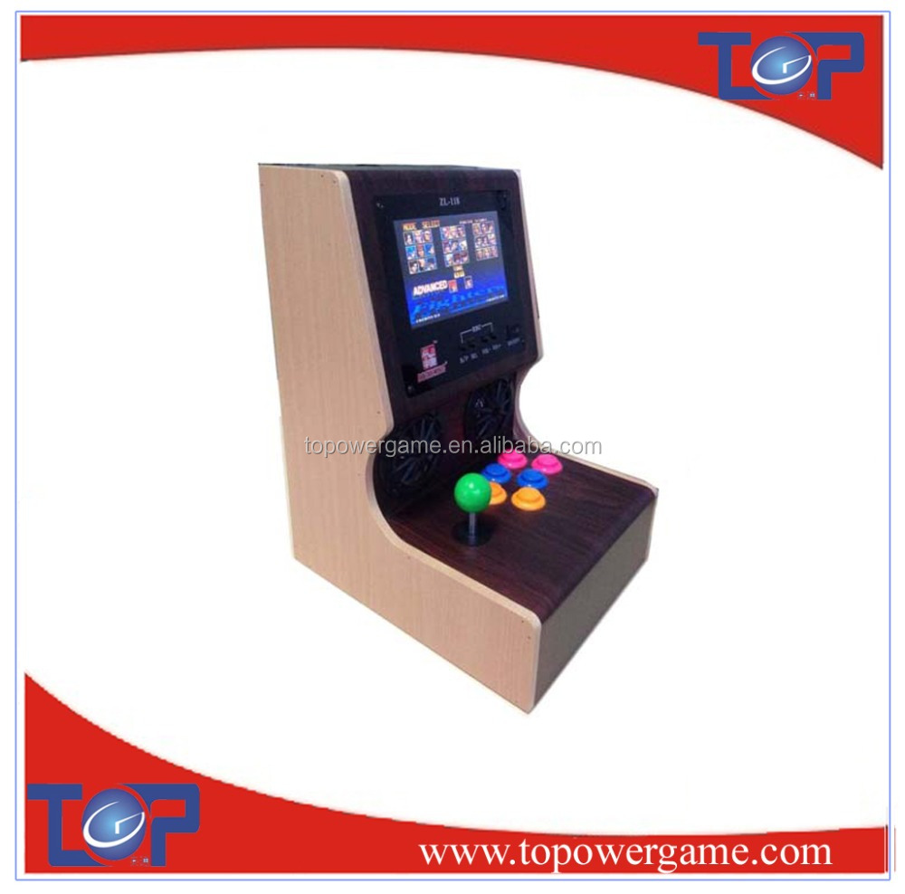 Hot saling cocktail table arcade game with video shooting game
