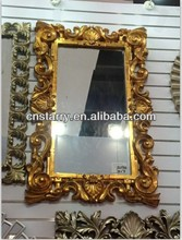 purely handmade bathroom wall mirrors decorative PU frame decorations