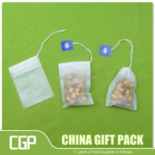 custom wholesale empty tea bag with string