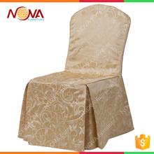 Custom high quality champagne satin overlap backdrop sash skirt band buckle napkin cheap event chair covers for sale