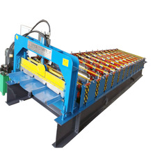 zinc PPGI color profile roofing galvanized iron sheet metal plate tile rolling machine for sales