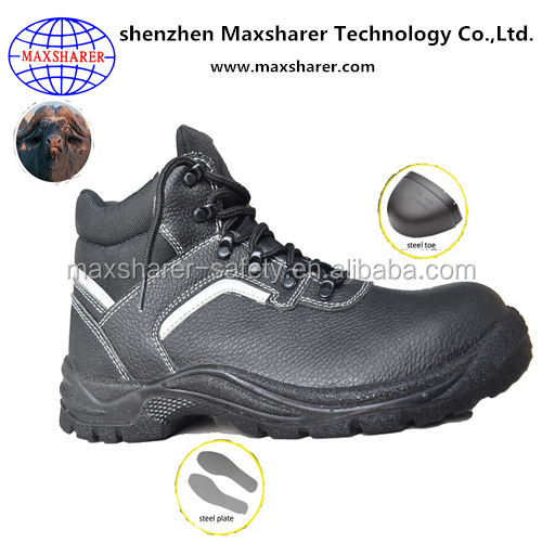 Steel toe S3 men shoes genuine leather industrial work safety shoes boots for army military
