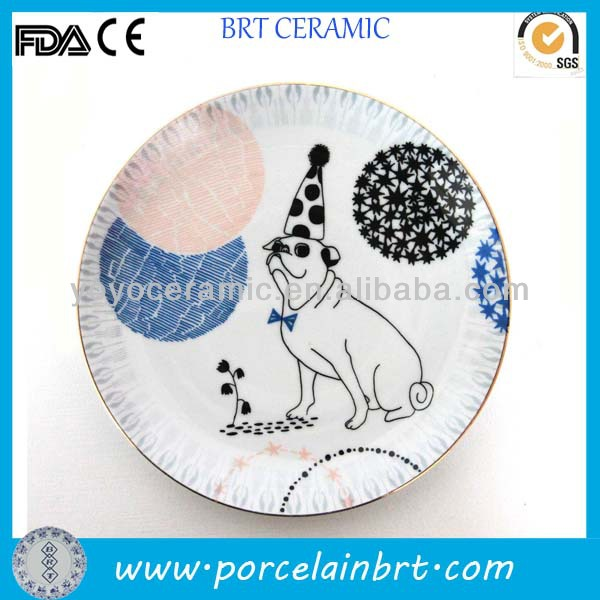 Decal Round Ceramic Plates You Decorate