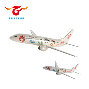 1:100 scale model aircrafts Boeing 737-800 40cm resin plane model with stand souvenir