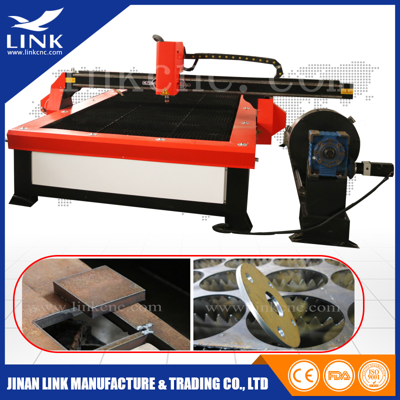 Auto Height Control Table Top Plasma Cutter Heavy Duty Frame with Rotary , Steel Plate Cutting Machine