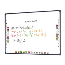 Office and school supplies interactive white board whiteboard glass frame