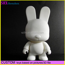 hot sales white blank dunny kidrobot action pvc vinyl figure for kid