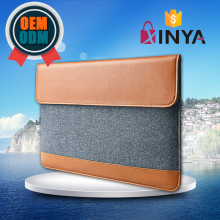 Lightweight 9.7 inch caramel leather tablet sleeve case with accessory pocket
