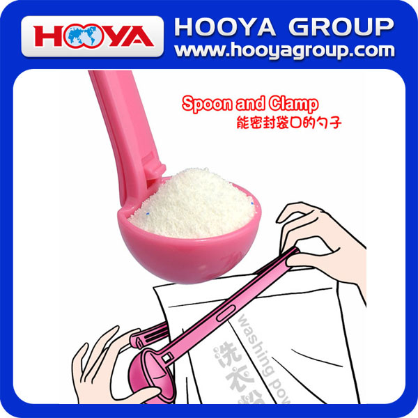 unique pp power measuring spoon sealing bag spoon