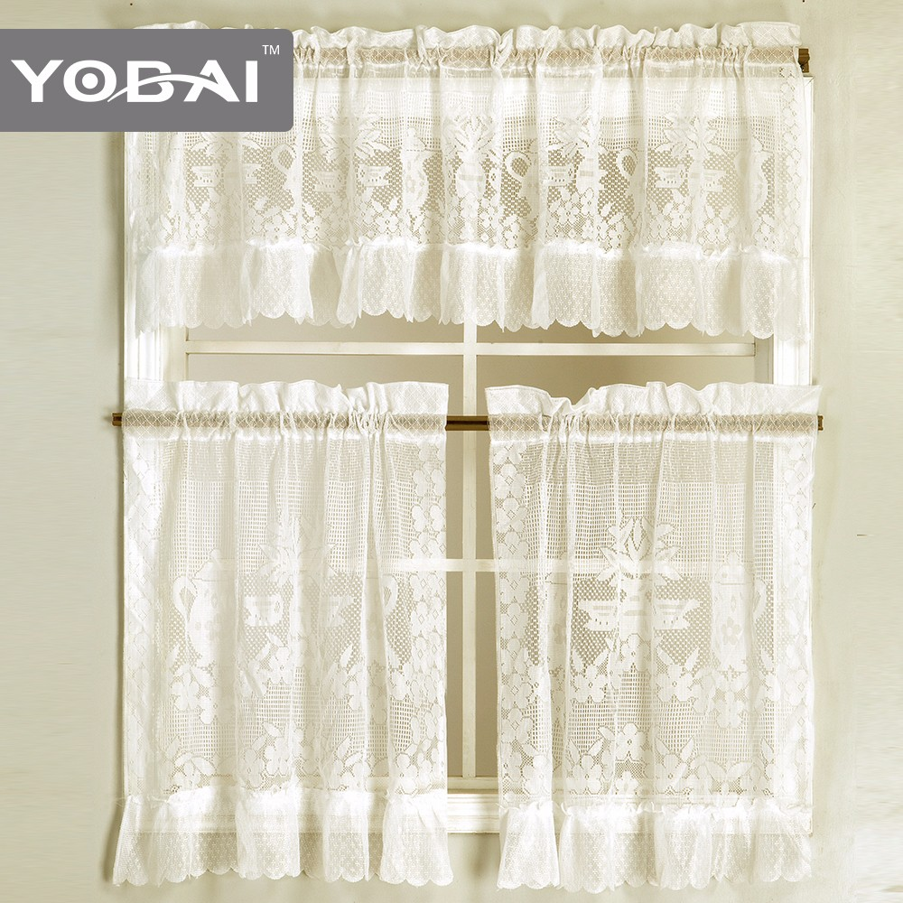 High-Quality Modern Style Chinese German American Style Lace Curtain Design Kitchen
