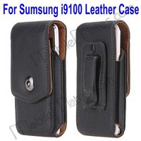 Belt Clip Case for Samsung Galaxy S2, Up Down Leather Flip Case for Samsung i9100 Galaxy S2