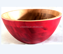 12 Inch Colored Large Bamboo Serving Fruit & Salad Bowl