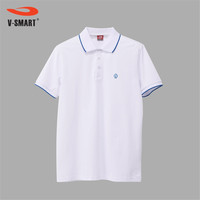 Embroidered logo polo White Turn-down Collar New Style Bulk Blank Polo Tshirts