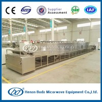 Industrial tobacco stem microwave drying machine