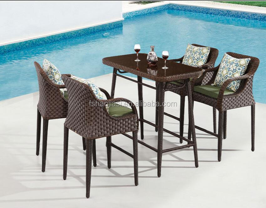 Outdoor Rattan Bar chair & Table Set HS1629BC&HS7213ADT