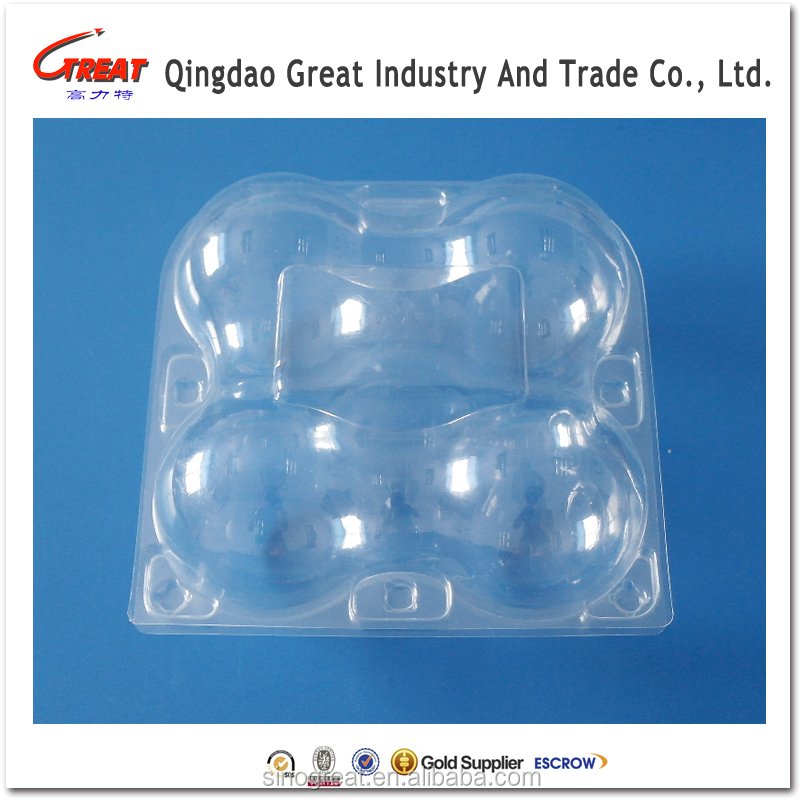 High Quality APET Fruit Apple 4 Slots Packing Tray