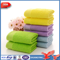 China Factory Wholesale Manufacturers Selling Absorbent Custom Embroidery Logo 100% Cotton Face Towel