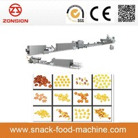 Latest cereal corn flakes puffs chips snack food processing machine/equipment