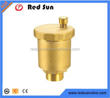 Hot sales HR6060 air vent valve/air release valve yellow surface/nickel plated in Yuhuan Redsun