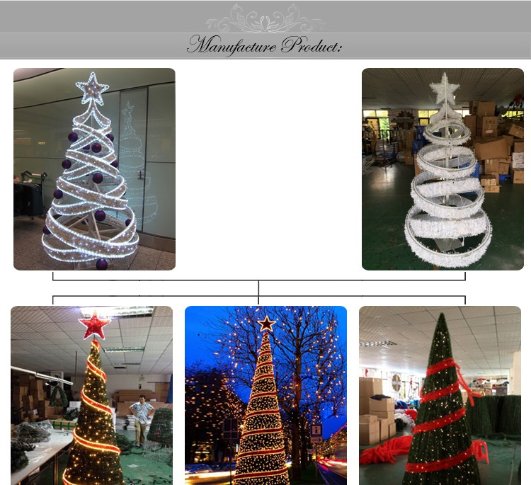 Commercial christmas decorations led large artificial tree lighting for outdoor decoration