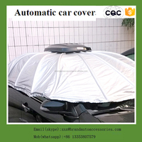 china automatic car covers hail protection folding garage car cover
