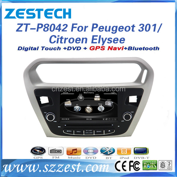 for peugeot 301 2013 -2016 car dvd gps navigation system with radio audio car multimedia