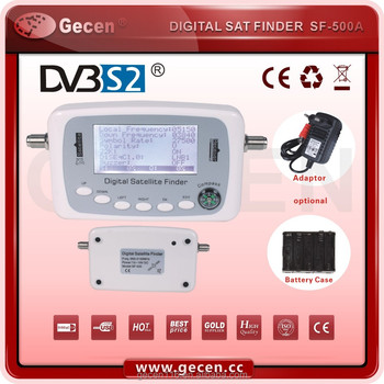 Gecen digital satellite finder meter support DVB-S2,DVB-S Model SF-500